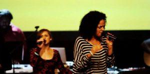 Ashley Wickersham leading worship with United City