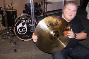 Josh Bullard playing drums for United City