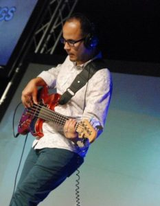 Marcos Garcia playing bass for United City!