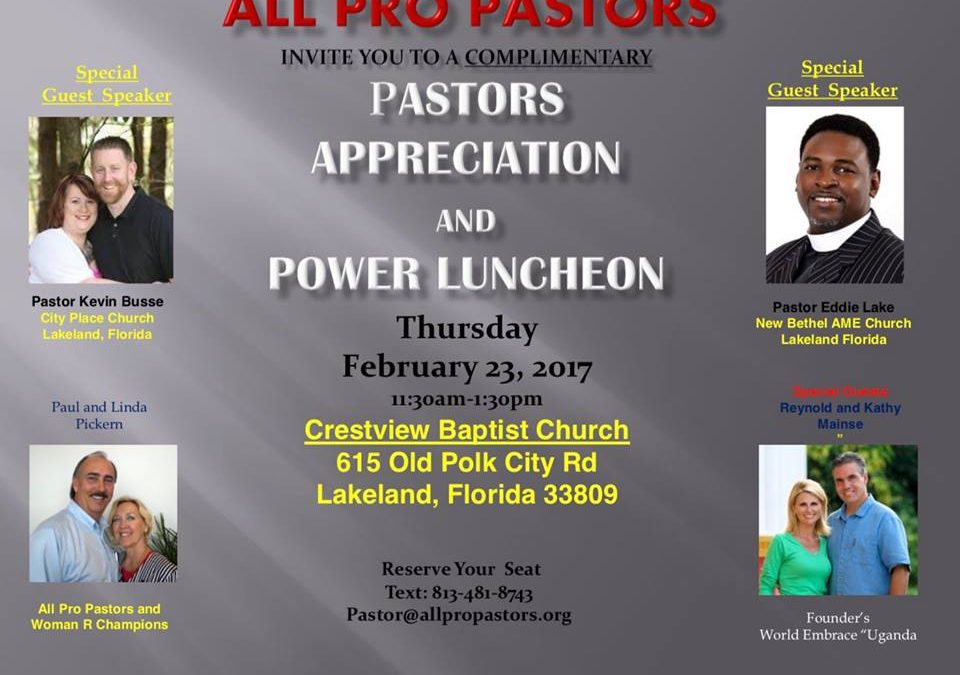 Community Connection: All Pro Pastors Luncheon